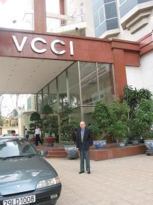Chris Runckel at Vietnam Chamber of Commerce building