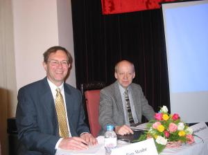 Ross and Chris at the Vietnamese companies workshop